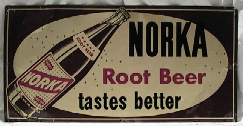Antique Norka Rootbeer Tin Sign